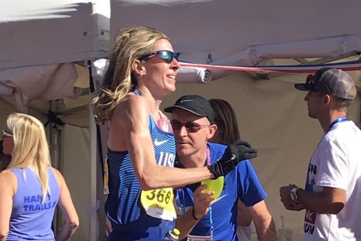 Camille Herron sets the 24 hour world record by running over 270km. Photo: USA Ultrarunning