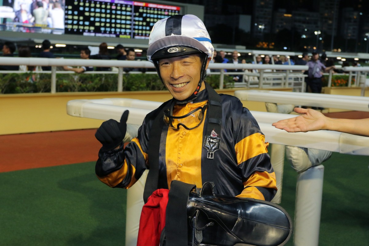 Ben So enjoys his first win of the season. Photos: Kenneth Chan