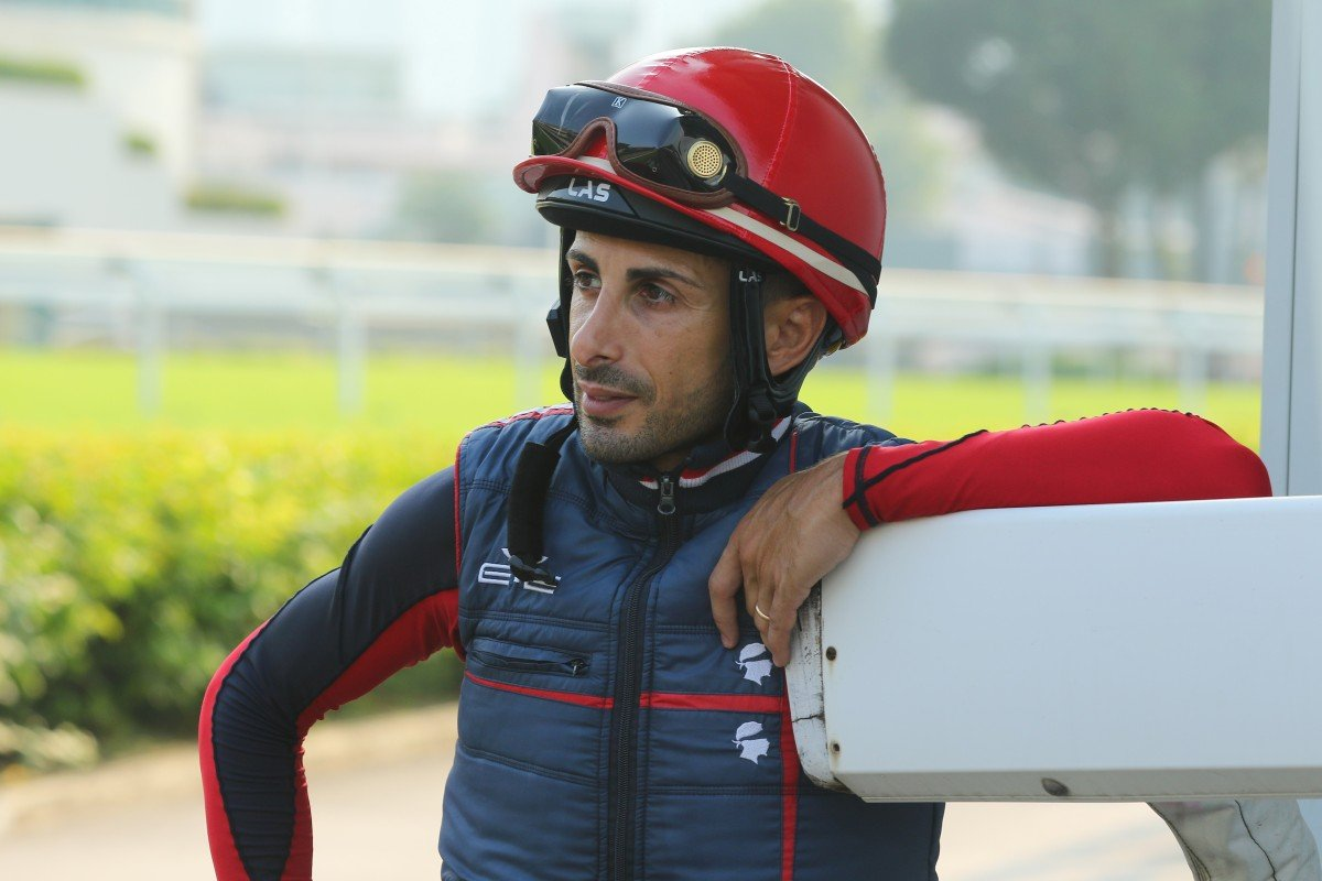 Jockey Alberto Sanna at Sha Tin trackwork. Photos: Kenneth Chan