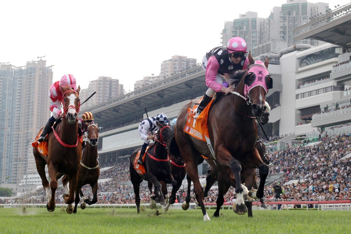 Beauty Generation is chasing a third-straight win in the Hong Kong Mile. Photo: Kenneth Chan