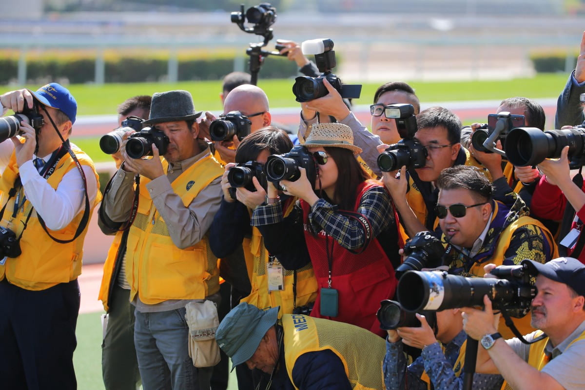 Media at Sha Tin ahead of Hong Kong International Races. Photos: Kenneth Chan