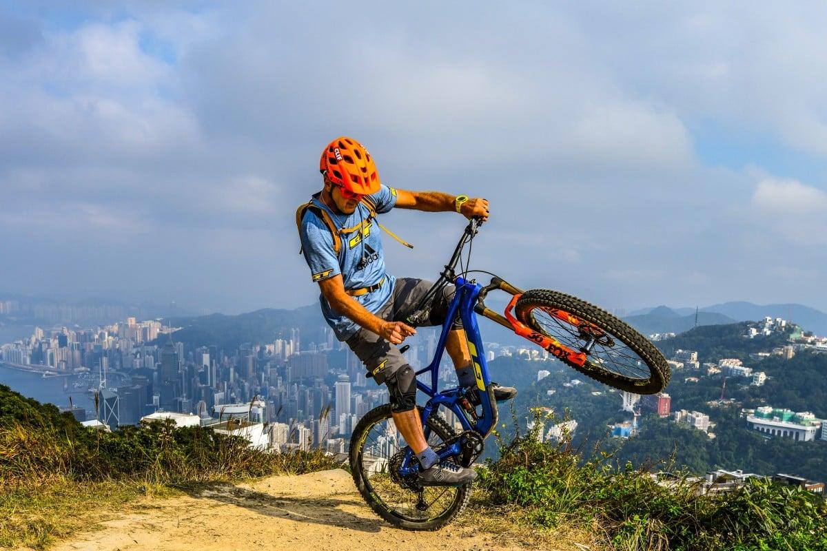 Hans Rey, former world champion mountain biker, in Hong Kong. Photo: Carmen Rey