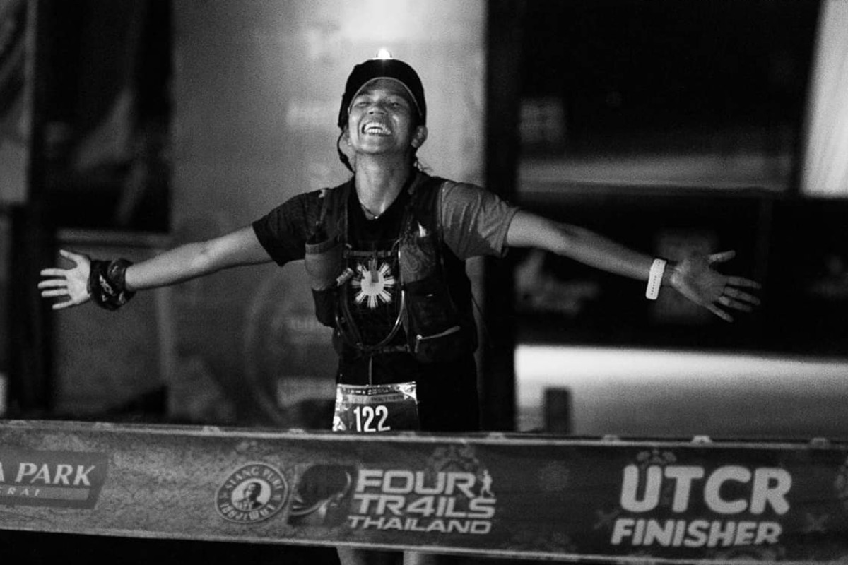 Domestic Helper Fredelyn Alberto finishes the Four Trails Thailand, part of the Asia Trail Master series. Photo: Asia Trail Master