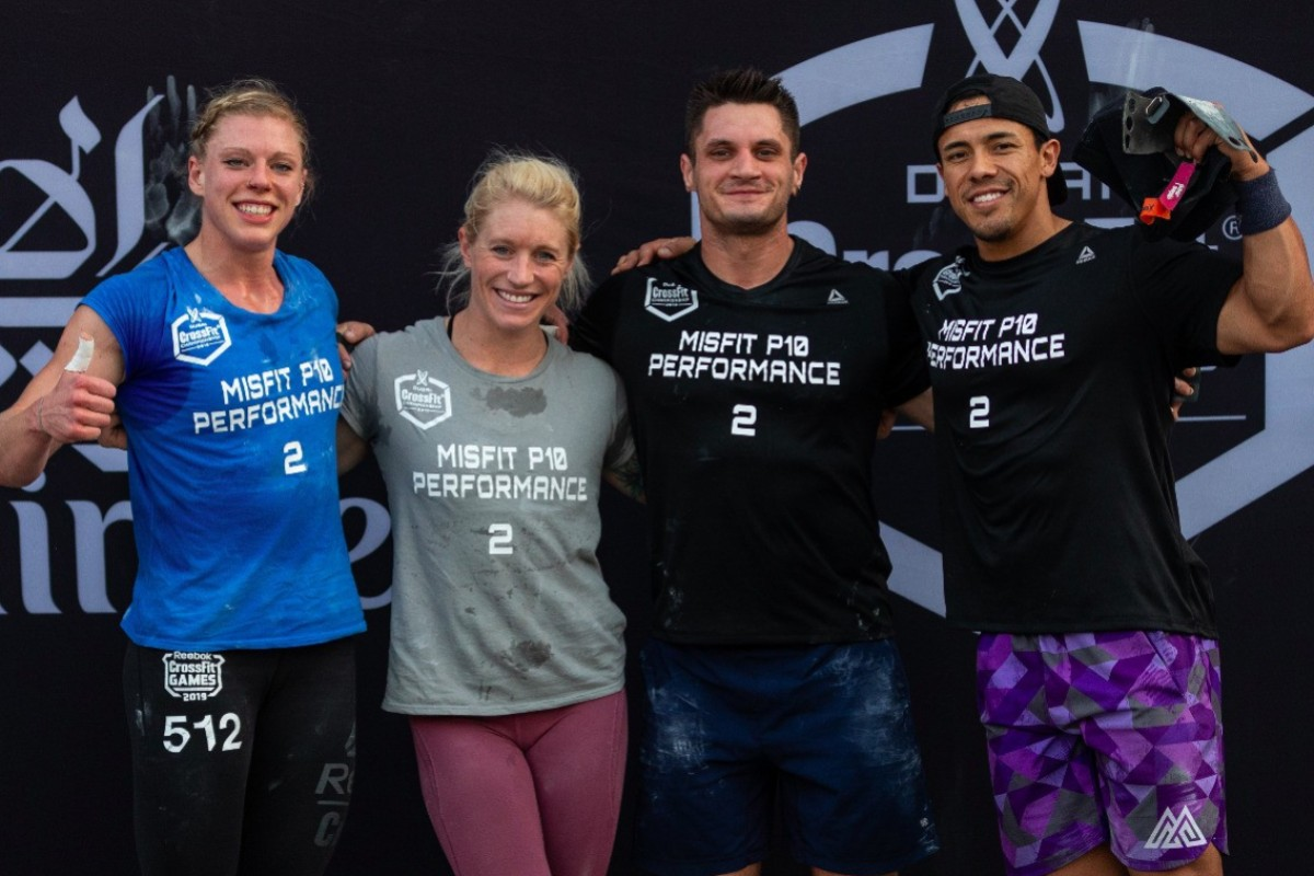 Misft P10 Performance from left: Taylor Williamson, Andrea Nilser, Travis Williams and Roy Gamboa. Photo: Adnan Karimjee/Dubai CrossFit Championship