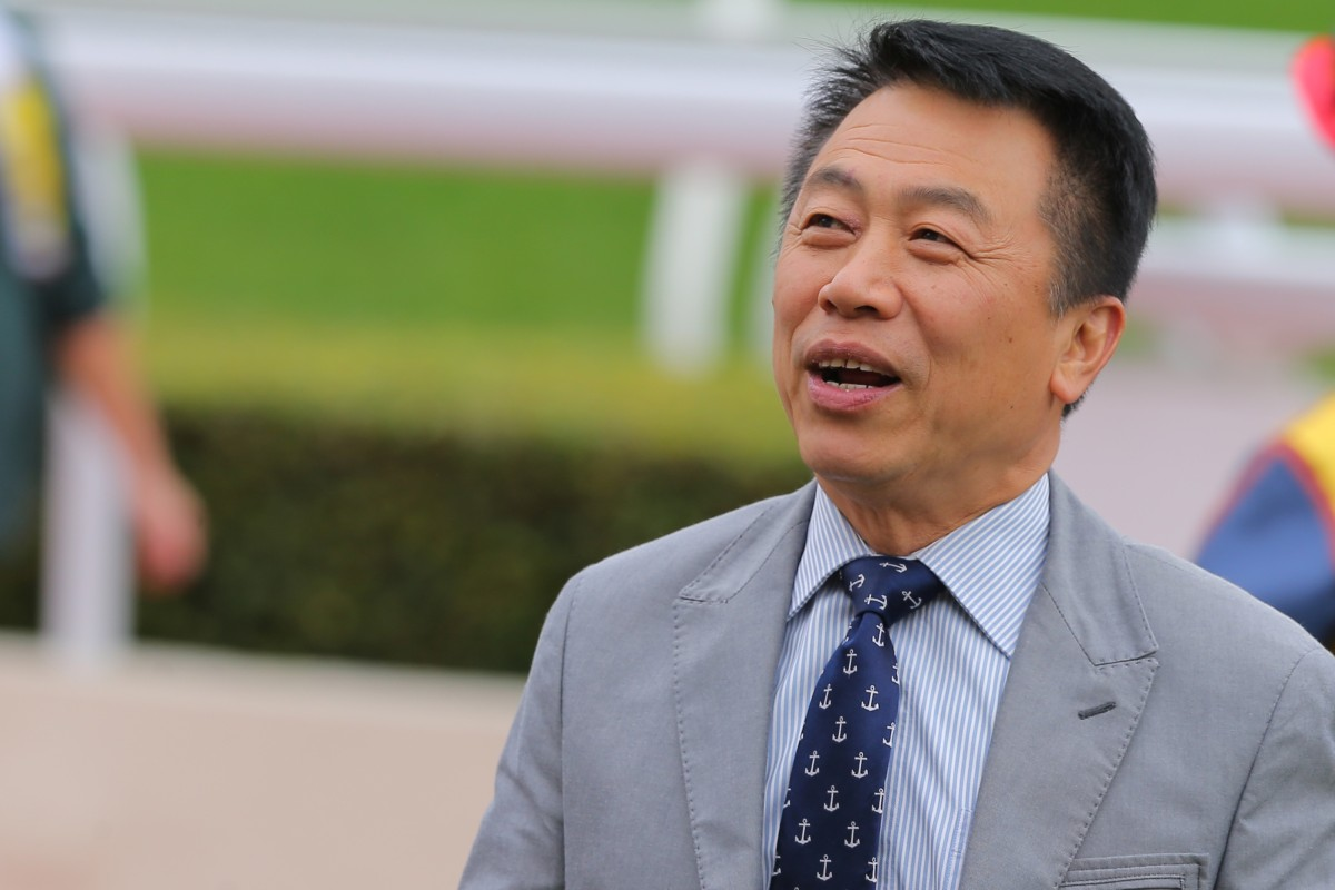 Ricky Yiu after the win of King's Man at Sha Tin. Photos: Kenneth Chan