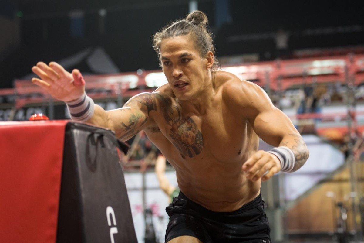 Ant Haynes at last year's Asia CrossFit Championship, where he came third. Photo: Shaun Cleary