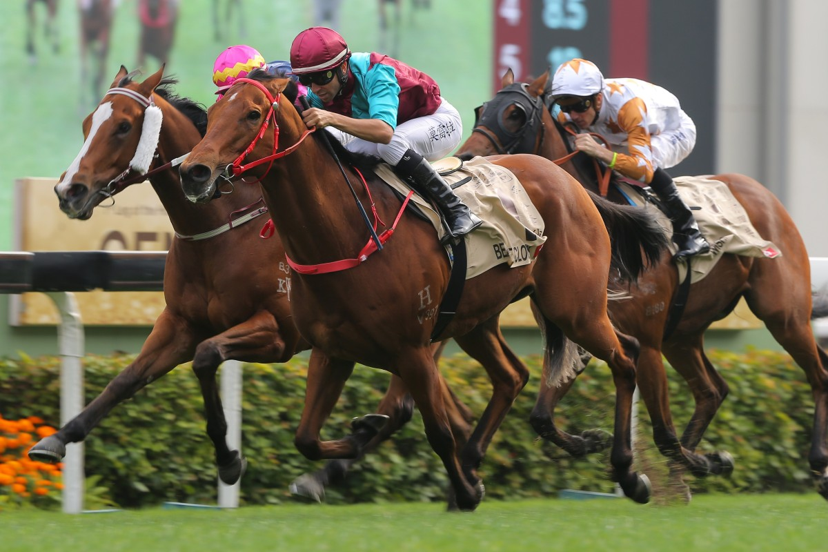 Beat The Clock takes out the Centenary Sprint Cup at Sha Tin on Sunday. Photos: Kenneth Chan
