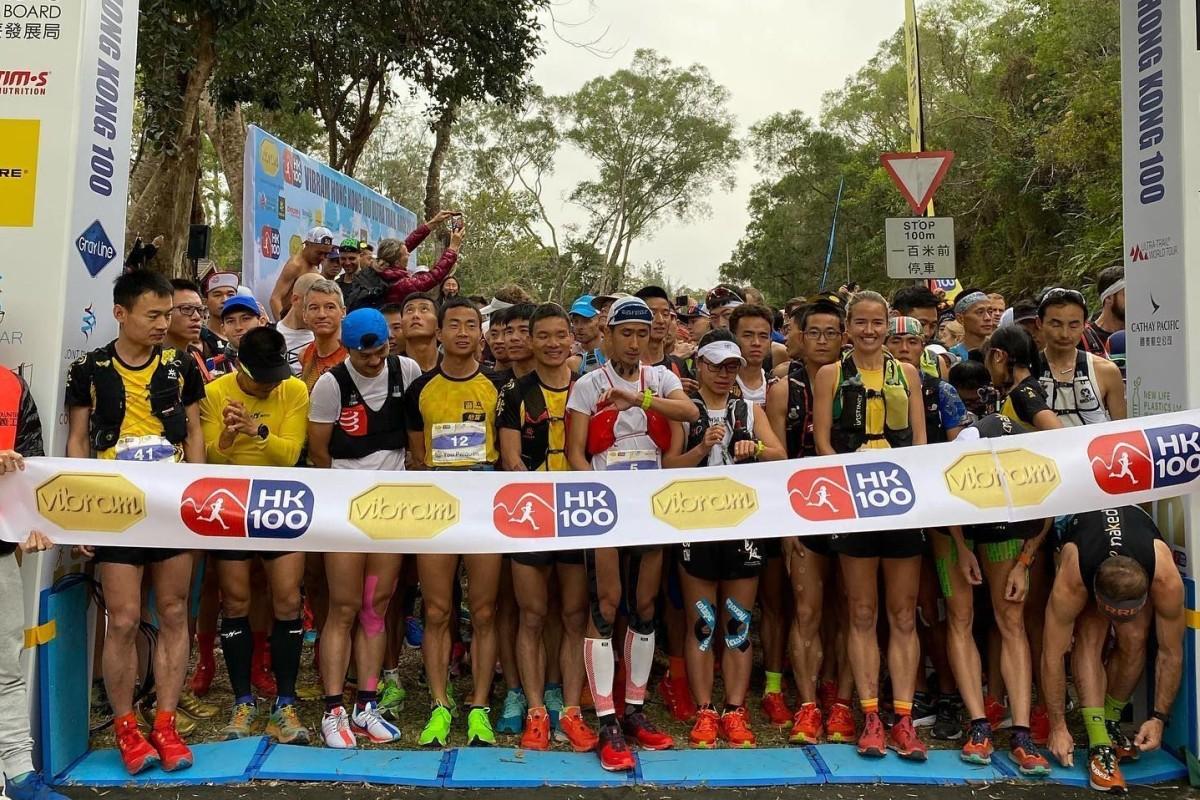 Trail runners line up on the start line of the Vibram Hong Kong 100 (HK100) 2020. Photo: Vibram Hong Kong 100
