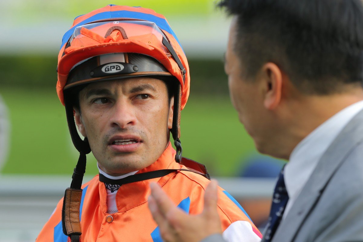 Silvestre de Sousa after riding a winner at Sha Tin this season. Photos: Kenneth Chan