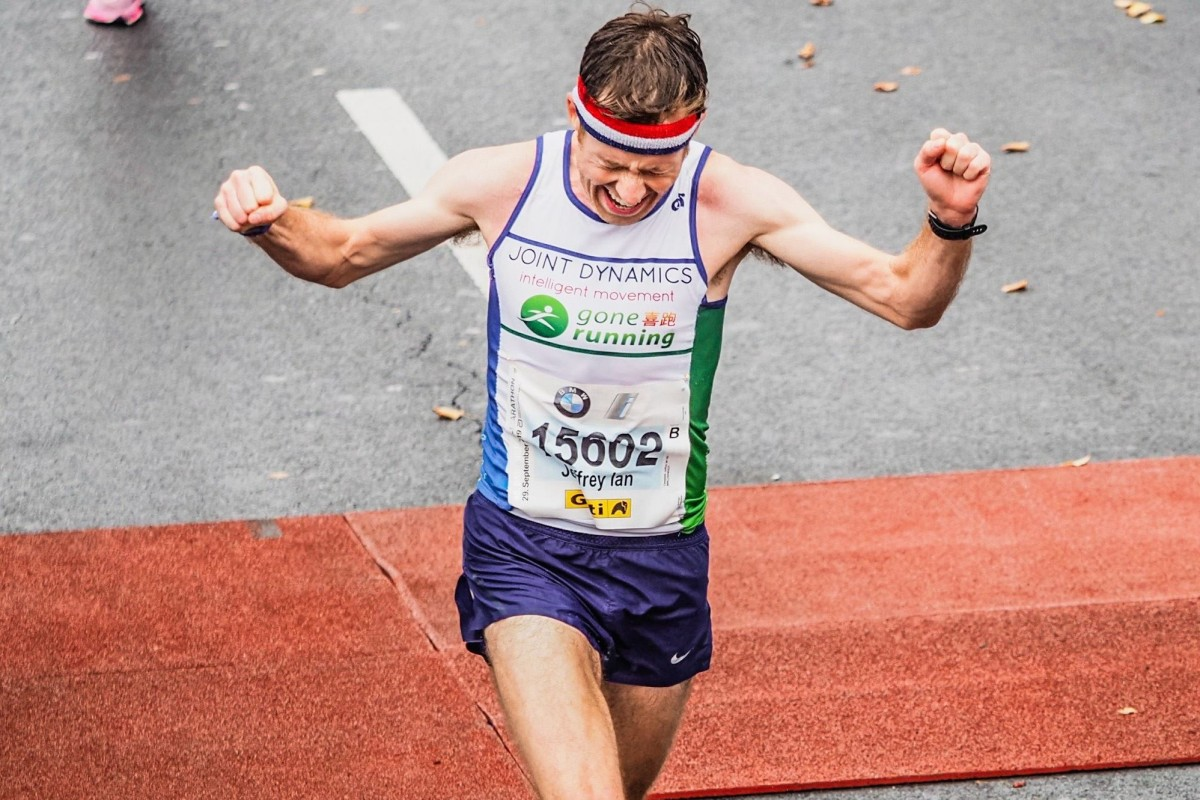 Jeff Campbell after completing the Berlin Marathon and notching a personal best. Photo: Handout