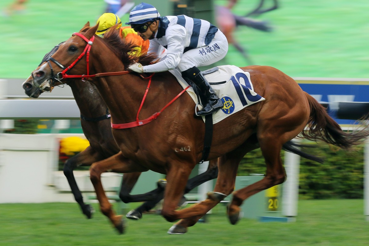 Grant van Niekerk guides Butterfield to victory at Sha Tin on Sunday. Photos: Kenneth Chan