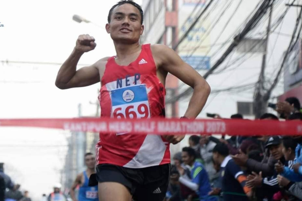 Hari Kumar Rimal, a former soldier, Nepal's half marathon record holder and 5,000m Olympian, is taking on the Gurkha Trailblazer. Photos: Handout