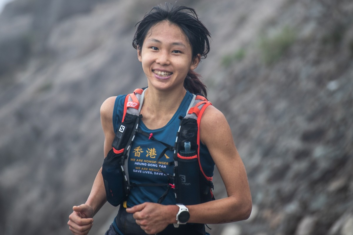 Cheung Man-yee en route to surviving the Hong Kong Four Trails Ultra Challenge despite twisting an ankle. Photo: Viola Shum