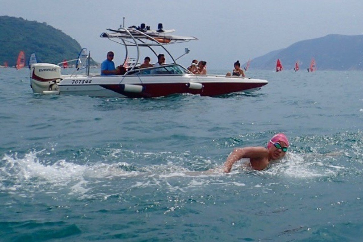 Bill Thorley racing in the Clean half marathon 15km open-water swim success – he and his teammates have opted against travelling to Doha amid fears of quarantine. Photo: Ken Thorley