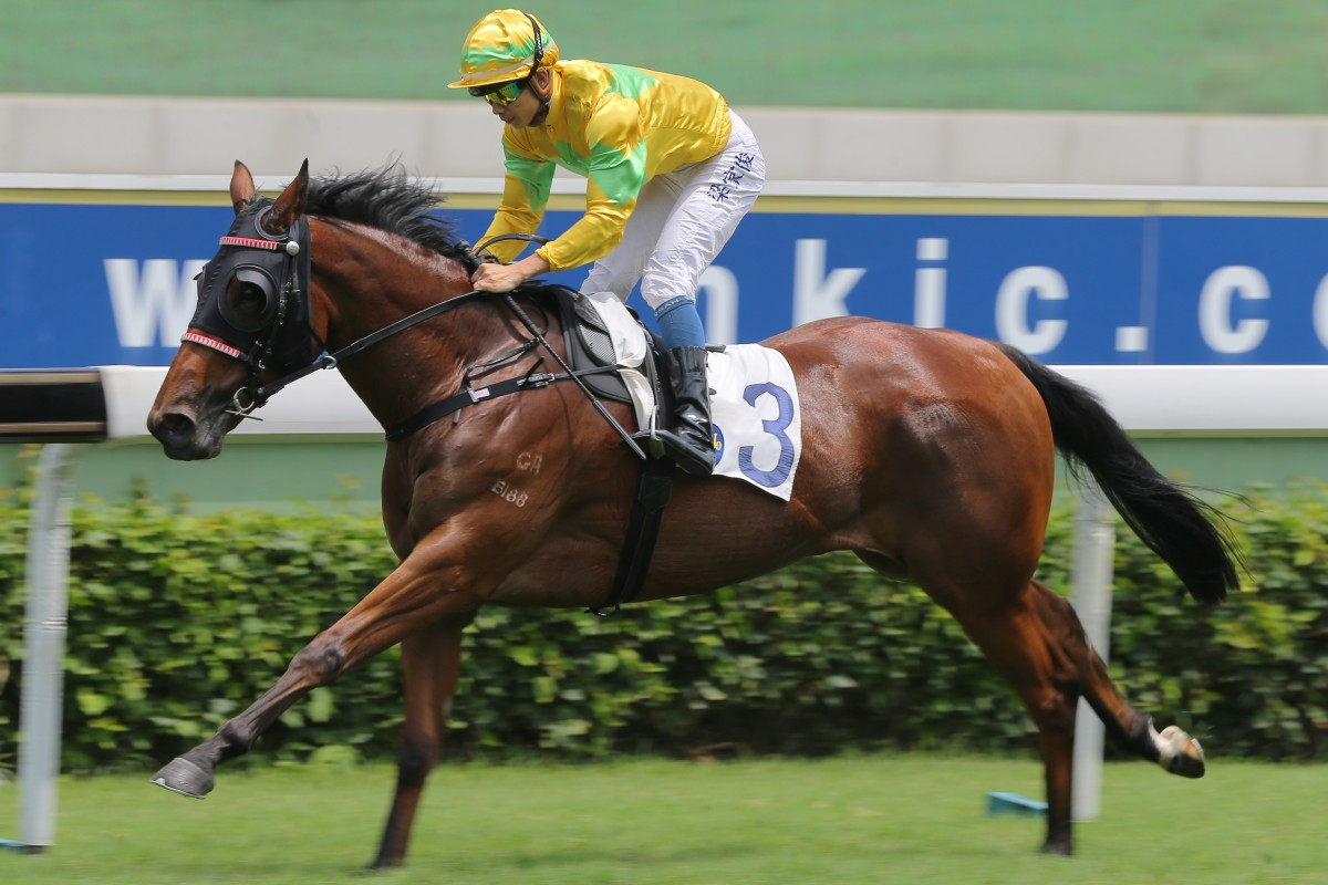 Derek Leung guides Goodluck Goodluck to victory at Sha Tin in June, 2018. Photos: Kenneth Chan