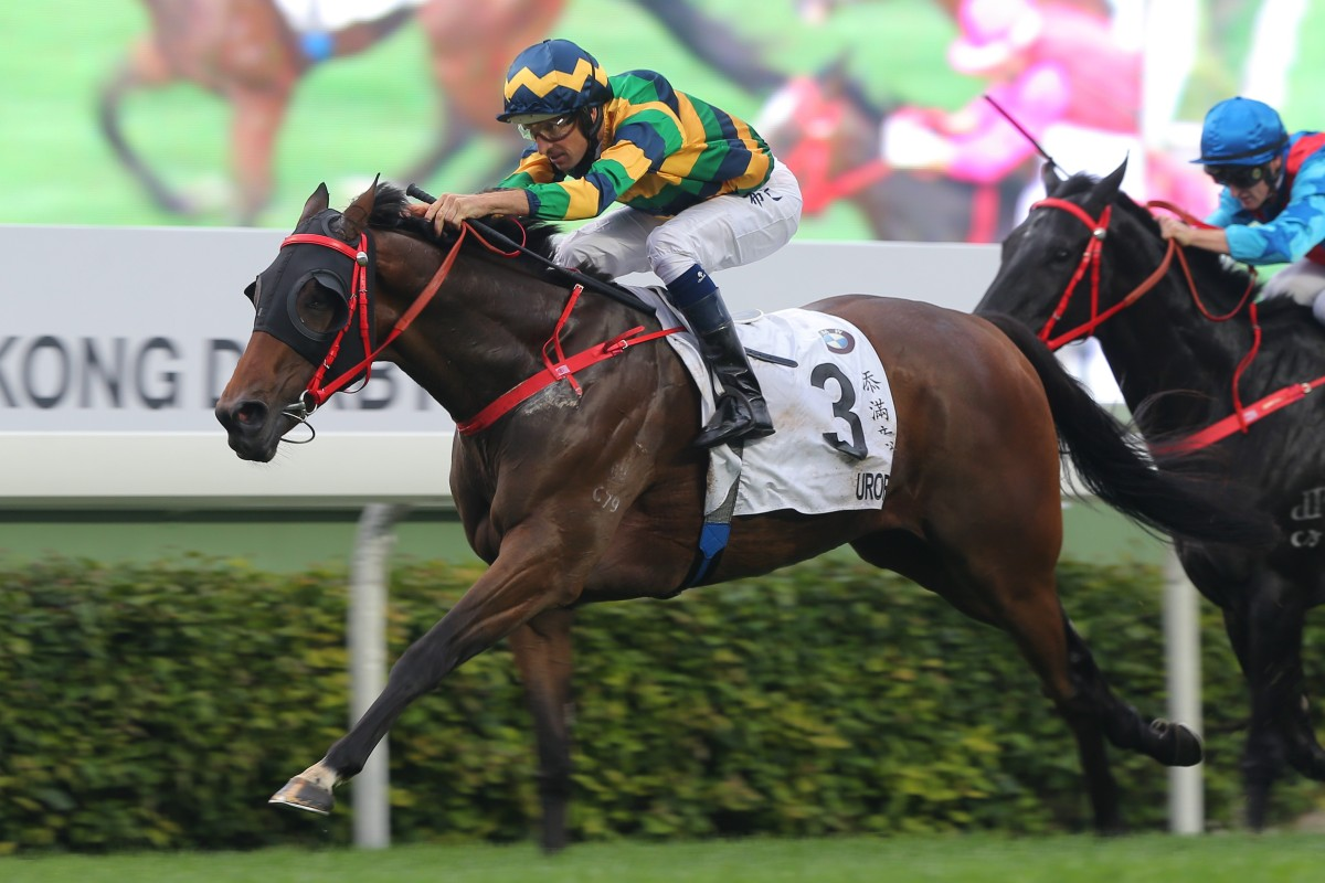 Furore wins last year's Hong Kong Derby. Photos: Kenneth Chan
