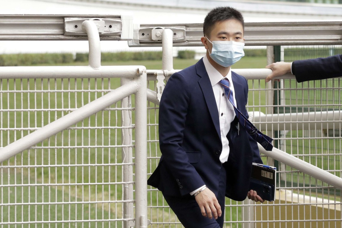 Jockey Dylan Mo arrives at his inquiry at Happy Valley on Thursday. Photos: Kenneth Chan