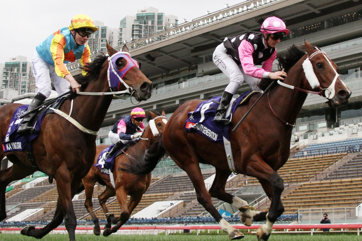 Beauty Generation wins the Queen's Silver Jubilee Cup at Sha Tin. Photos: Kenneth Chan