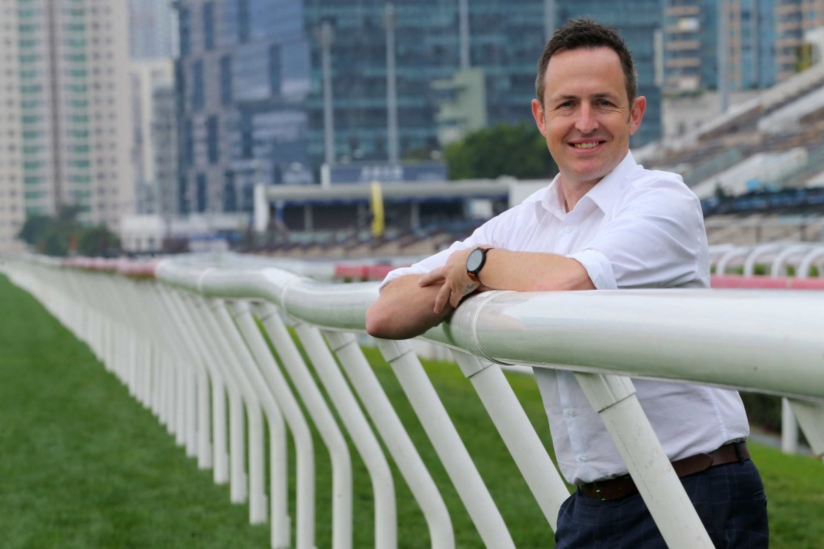 Hong Kong Jockey Club new race caller Mark McNamara at Sha Tin Racecourse. Photos: Kenneth Chan