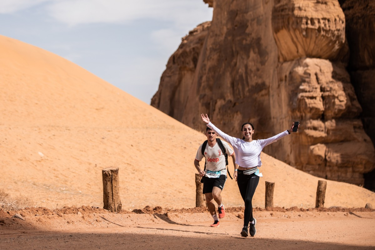 Women train and race along side men as Saudi Arabia relaxes rules to encourage tourism. Photo: Alexis Berg