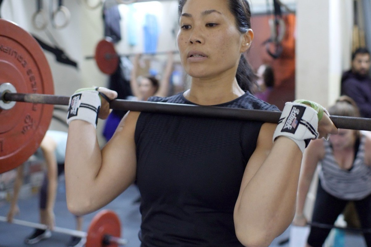 Mei Mei Peng works out at CrossFit Tay Ho in Hanoi, Vietnam. Photo: Handout