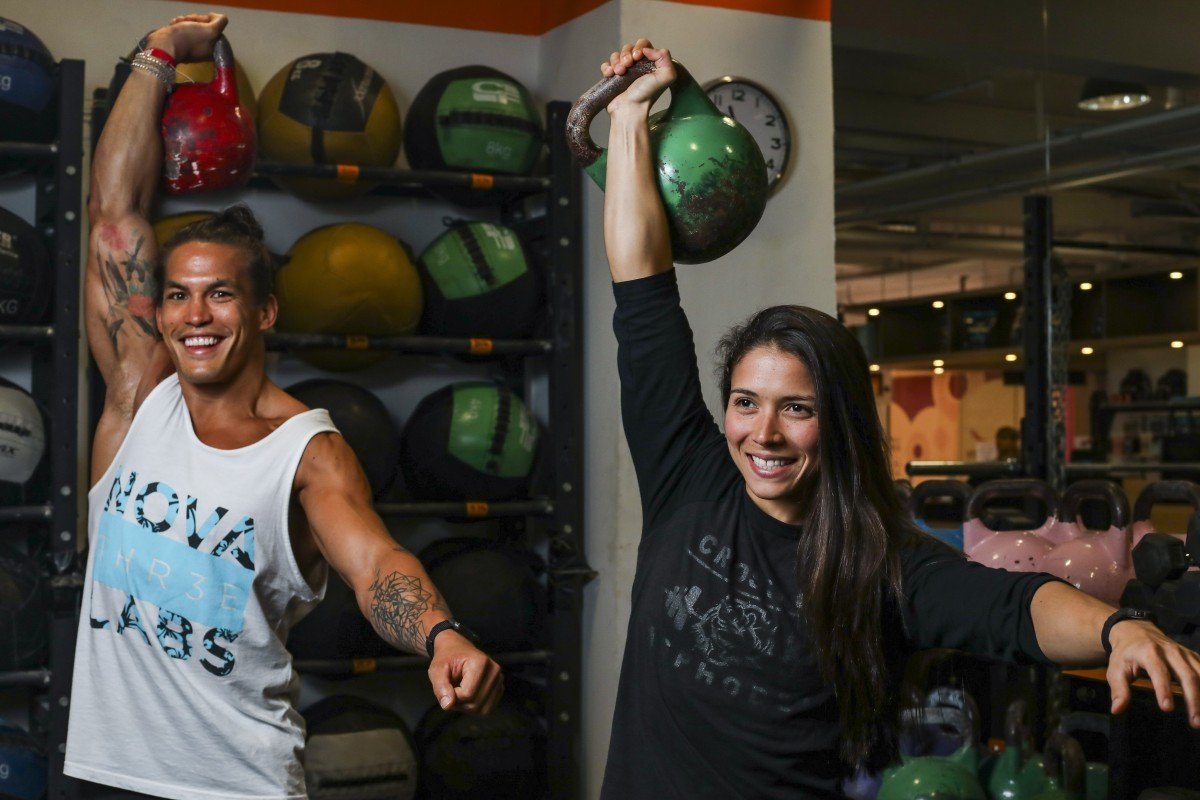 Ant Haynes and Victoria Campos train at Coastal and Asphodel respectively. Photo: Xiaomei Chen