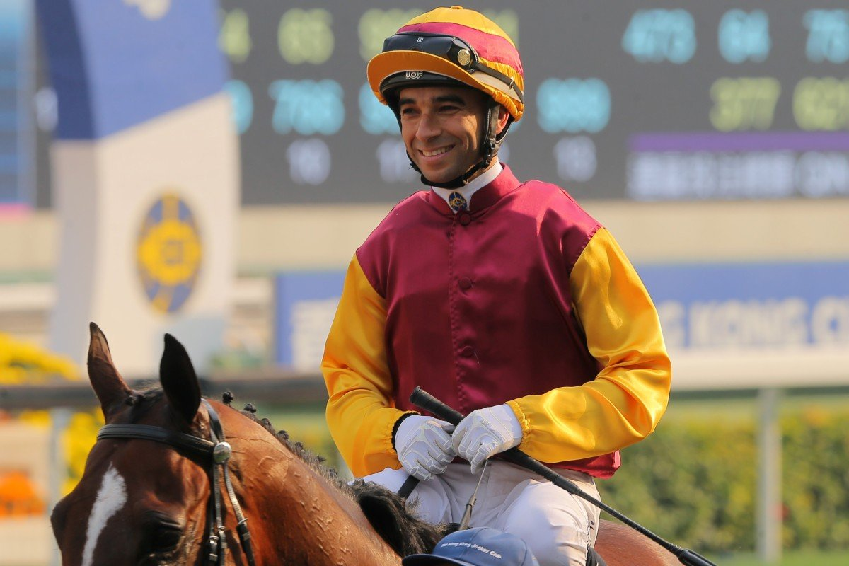 Joao Moreira returns after riding a winner at Sha Tin. Photos: Kenneth Chan