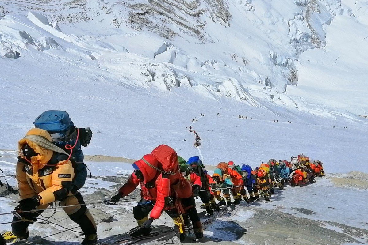 The busy slopes of Everest will be quiet this climbing season. Photo: AP