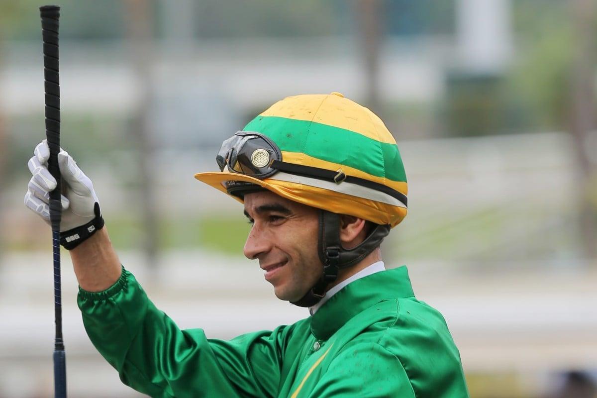 Joao Moreira celebrates a recent winner at Sha Tin. Photos: Kenneth Chan