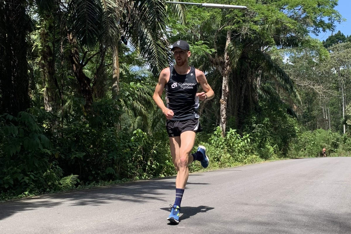 Oscar Coggins training in Thailand. The 20-year-old said he hopes the Olympics still go off this summer. Photos: Handout