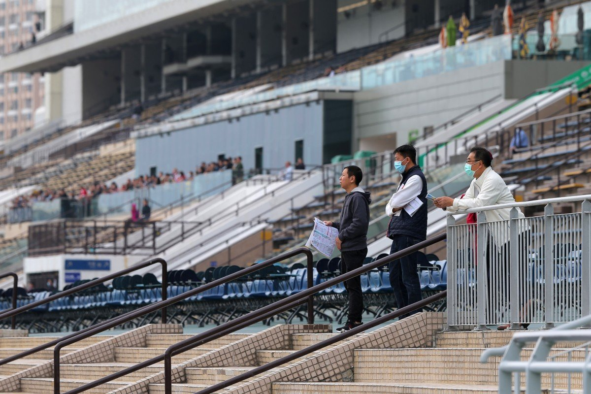 Three racing fans watch the races at Sha Tin in February. Photos: Kenneth Chan