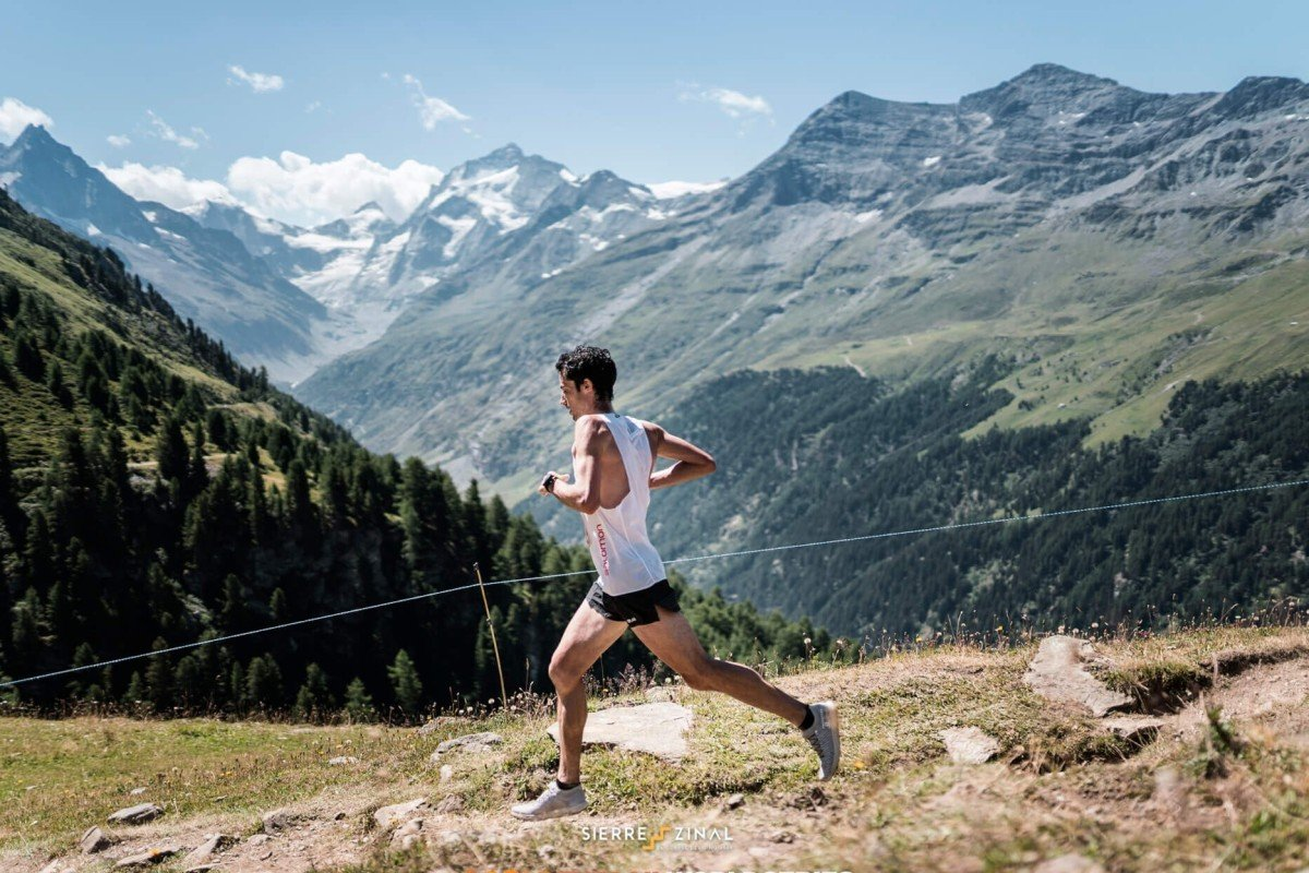 You can win the shoes Kilian Jornet wore during his Sierre Zinal victory. Photo: Golden Trail Series
