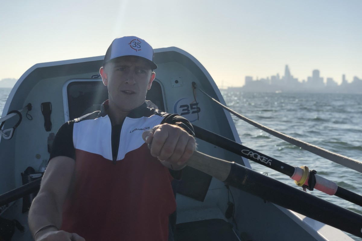 Duncan Roy is attempting to set the world record for rowing from San Francisco to Hawaii as part of team Latitude 35. Photos: Latitude 35