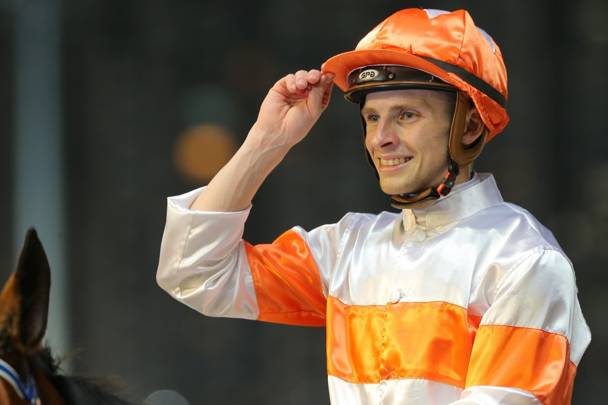 Lyle Hewitson celebrates a winner at Happy Valley in January. Photos: Kenneth Chan