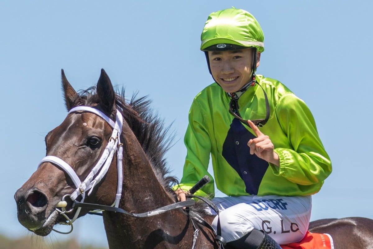 Apprentice jockey Gary Lo during his time in Adelaide. Photo: Hong Kong Jockey Club
