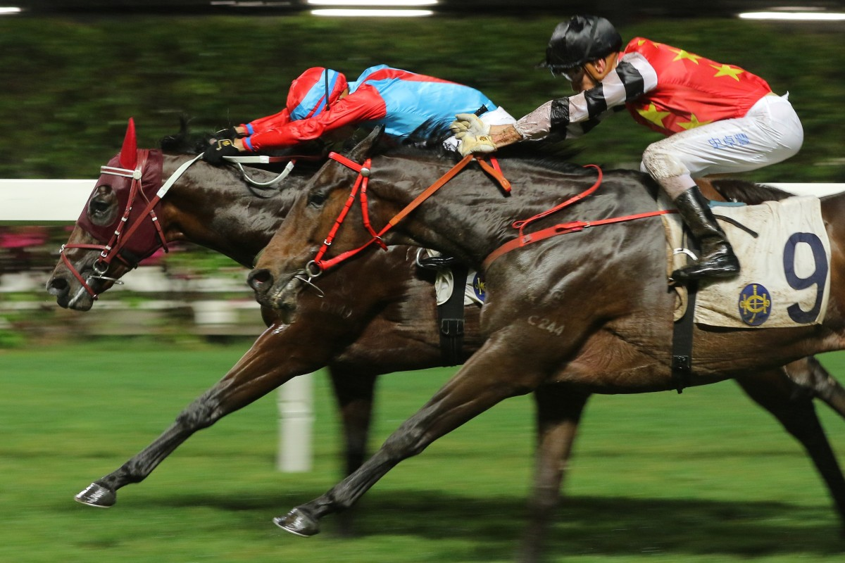 We The South beats home Farm Bumper at Happy Valley on Wednesday night. Photos: Kenneth Chan