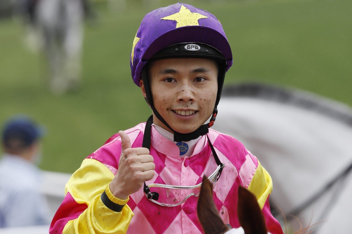 Matthew Poon celebrates a winner at Sha Tin this season. Photos: Kenneth Chan