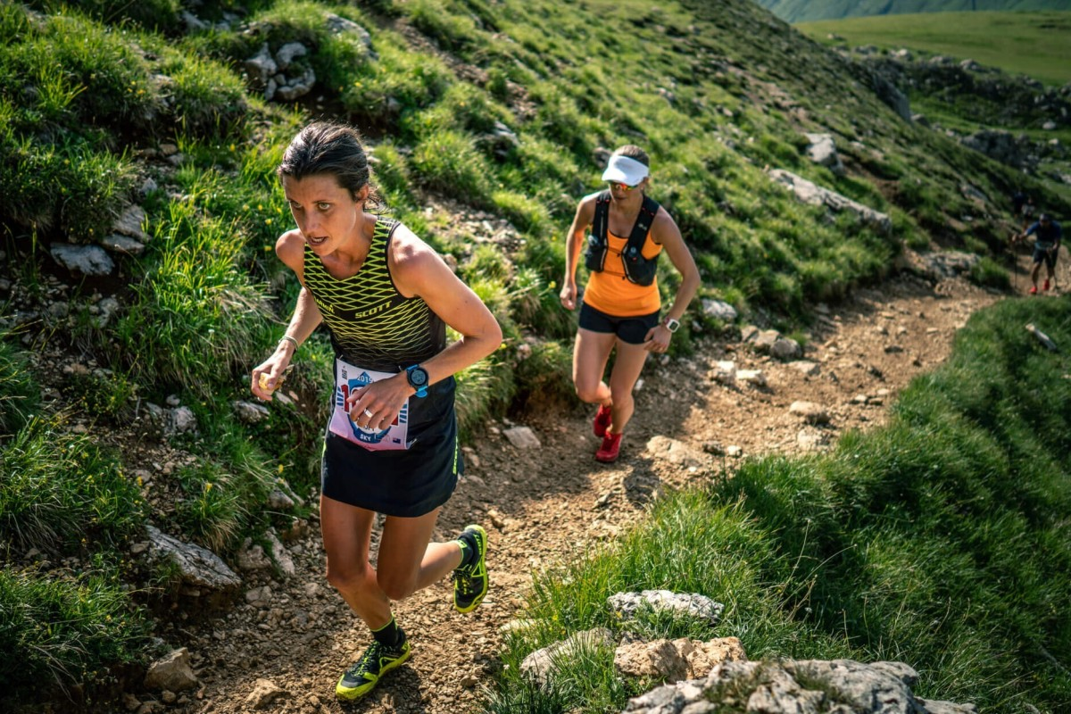 Replicating vertical gain on stairs is a good substitute for hills as it builds strength in your posterior chain, says Ruth Croft. Photo: Golden Trail Series
