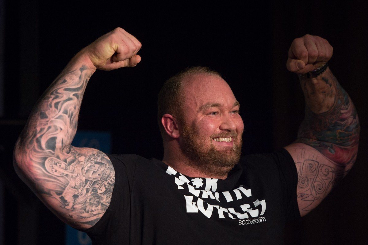Hafthor Bjornsson has set a new deadlifting world record after lifting 501kg in Iceland. Photo: EPA