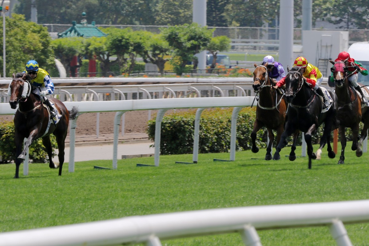 Chefano clears out to win the Group Three Queen Mother Memorial Cup. Photos: Kenneth Chan