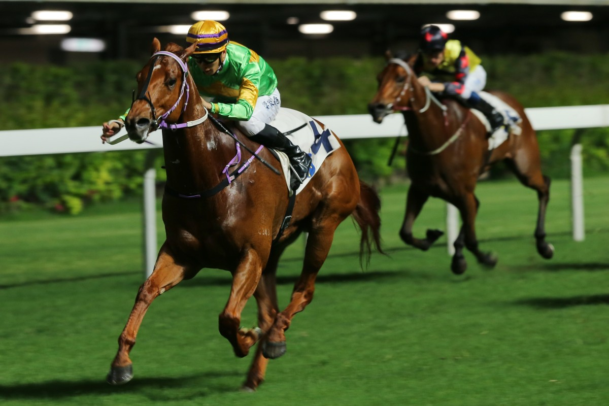Classic Unicorn dashes clear to win well at Happy Valley last month. Photos: Kenneth Chan