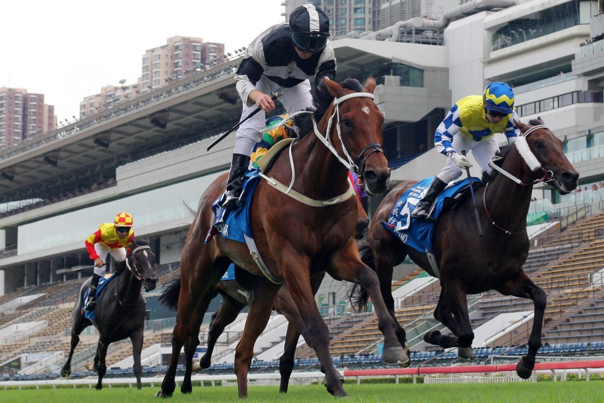 Exultant takes out the Group One Champions & Chater Cup. Photos: Kenneth Chan