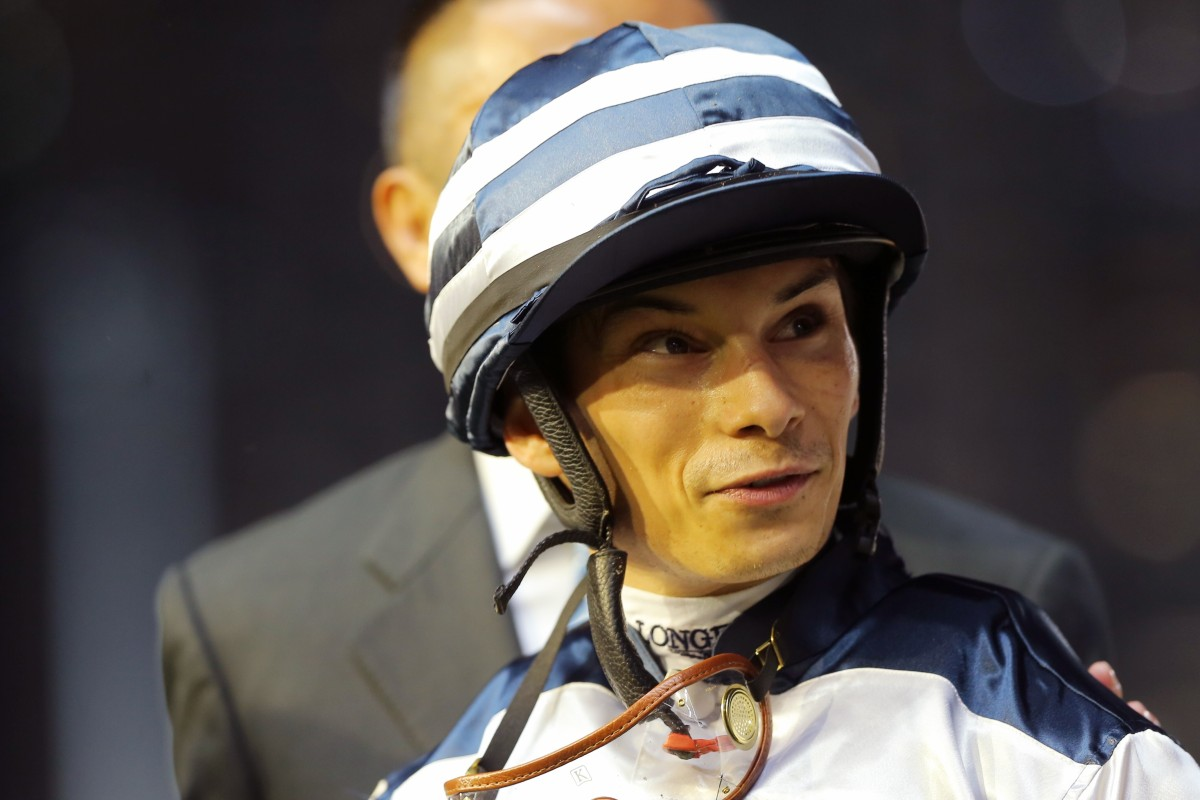 Alexis Badel after riding a winner in Hong Kong this season. Photos: Kenneth Chan