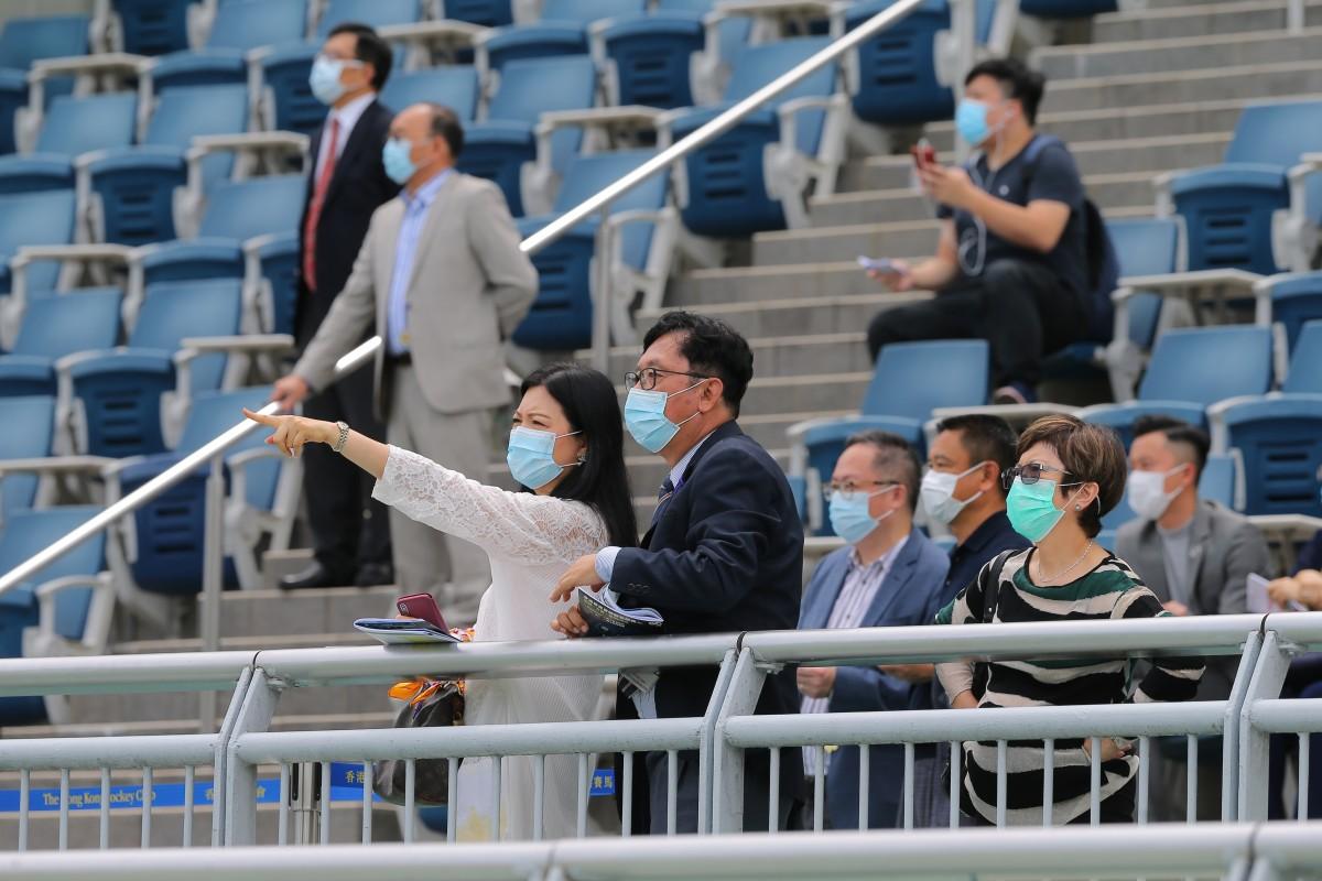 Jockey Club members watch the races at Sha Tin on Wednesday. Photos: Kenneth Chan