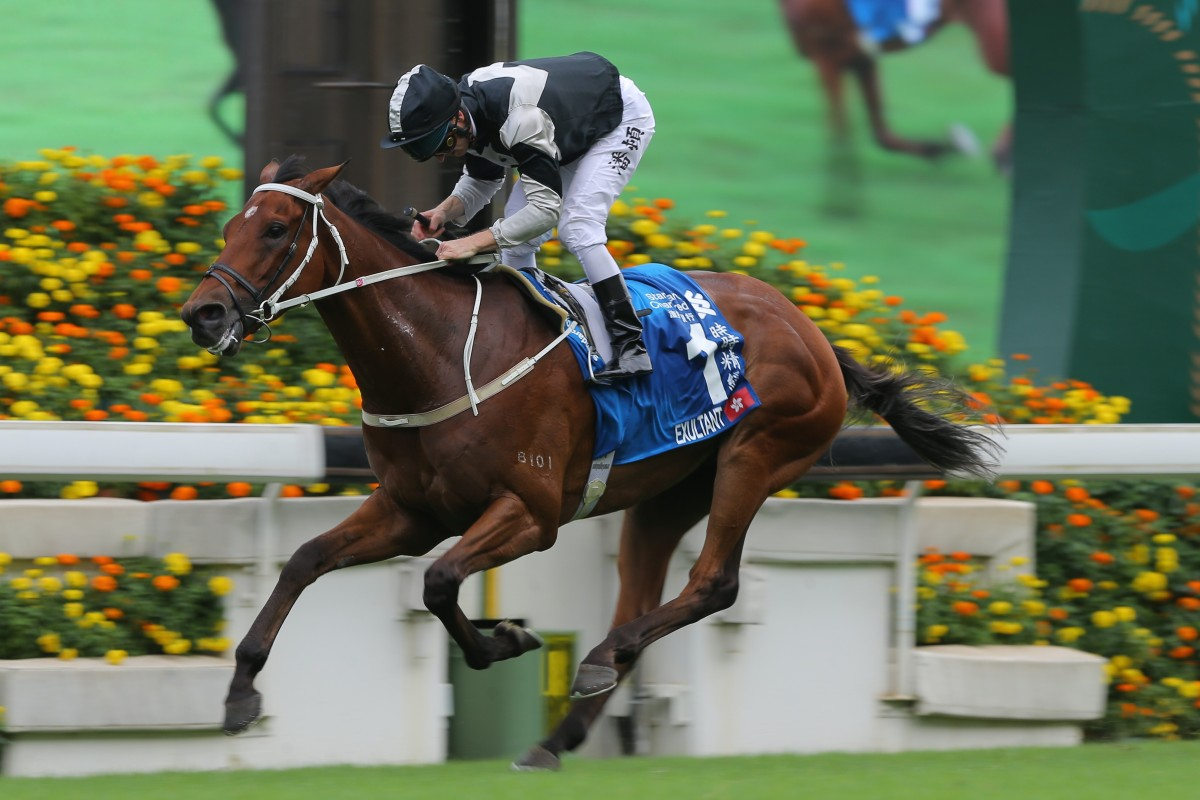 Exultant wins the Champions & Chater Cup in May. Photo: Kenneth Chan