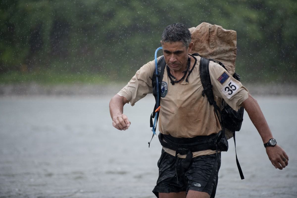 Nathan Fa'avae leads his team New Zealand to victory in the 670km Eco-Challenge in Fiji. Photo: Wynn Ruji/Amazon