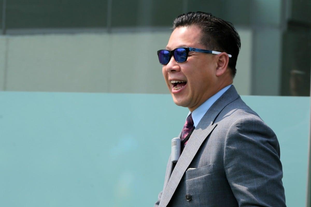 Dennis Yip celebrates a winner at Sha Tin. Photos: Kenneth Chan