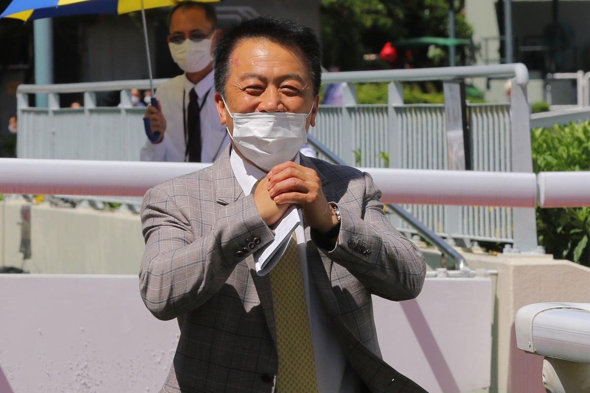 Ricky Yiu celebrates a winner late last season. Photos: Kenneth Chan