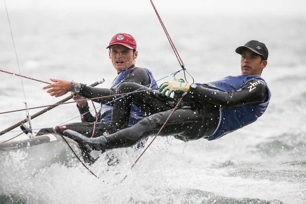Calum Gregor, a member of the RHKYC Team Agiplast, will not get a chance to compete in the Youth America's Cup, but the objectives remain alive. Photo: Handout