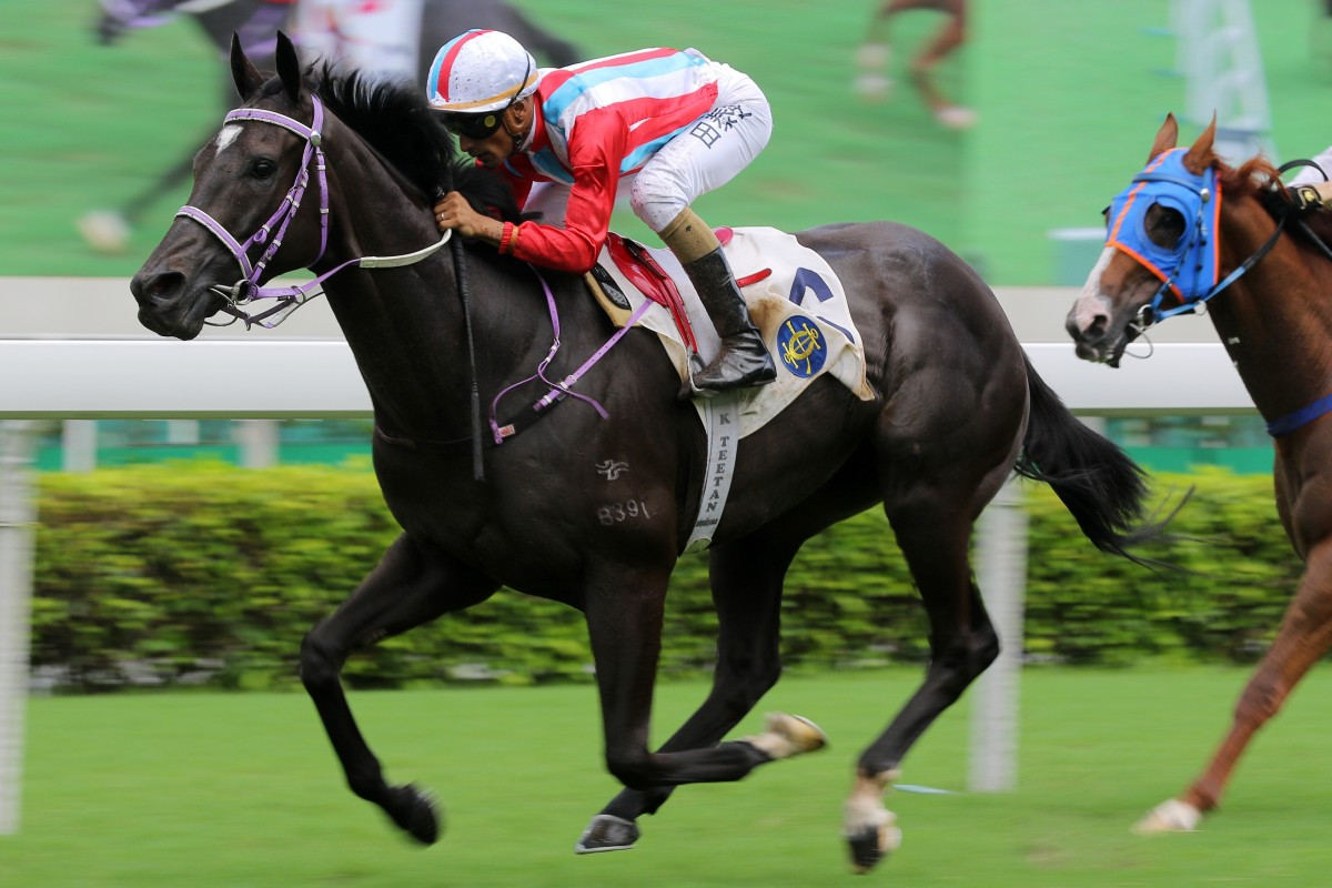 Lakeshore Eagle makes it three wins on the bounce at Sha Tin in June. Photos: Kenneth Chan